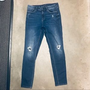 WHBM Stretch Jeans distressed look